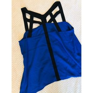 Strappy silky tank top